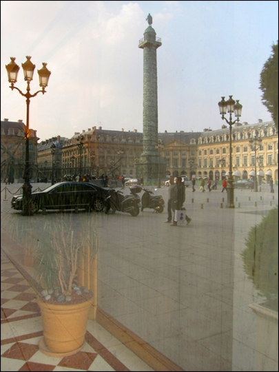 "Reflecting on Place Vendôme (View from the ""Schiap Shop"")"