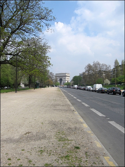 Avenue Foch and the Arc de Triomphe