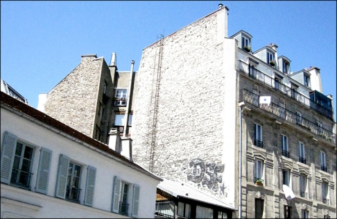View of Paris from Vincent's Building on the Rue Lepic, 2013