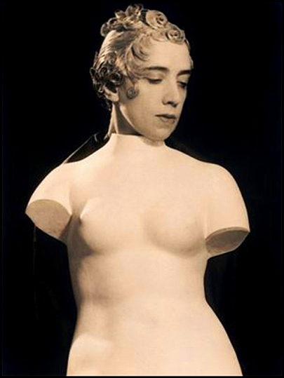 Elsa Schiaparelli, portrait by Man Ray, 1933 (Wig by Antoine)