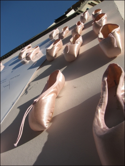Repetto Ballet Shop on rue de Paix (Where's Gene Kelly when you need him?)