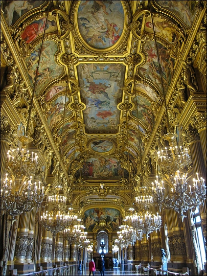 Natural light floods the Grand Hall at the Opéra Garnier