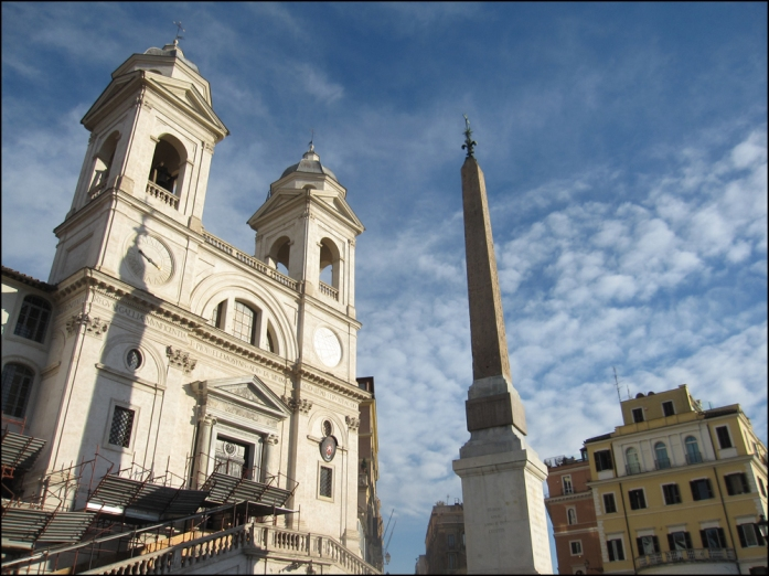 138 Spanish Steps will take you up to the Trinità dei Monti! Tip: Bernardo Bertolucci's Besieged (1998) with Thandie Newton and David Thewlis was filmed in an old flat over looking the Spanish steps, on the north side, upper left if you are standing at the bottom of the steps).