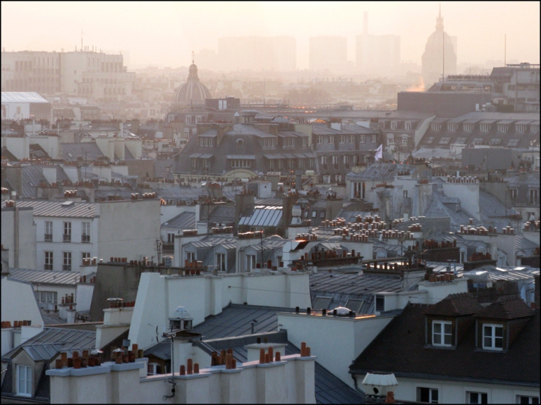Stardust Memories: View of Paris from the Centre Pompidou (where André Breton's  Clignancourt flea market treasures are on display) Photos by T. Brack
