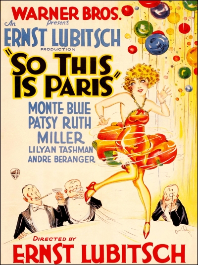 Ernest Lubitsch's So This is Paris, 1926