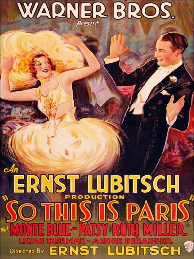 Ernest Lubitsch's So This is Paris, 1926 Image: MoviePosterDB