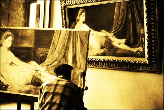 Louvre Copyist by Maurice Sapiro, Paris, 1956