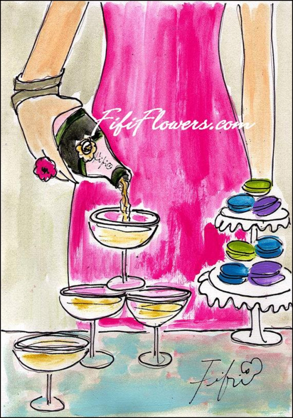 Pouring the Bubbly By Fifi Flowers