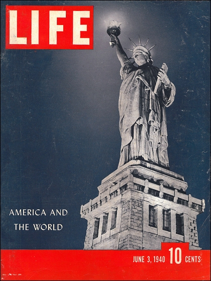 Statue of Liberty, New York, Life Magazine, 1940 (T. Brack's archives)