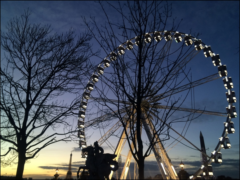 La Grande Roue at Place de la Concorde will keep on turning until February 15, 2015 (Photographs by Theadora Brack)