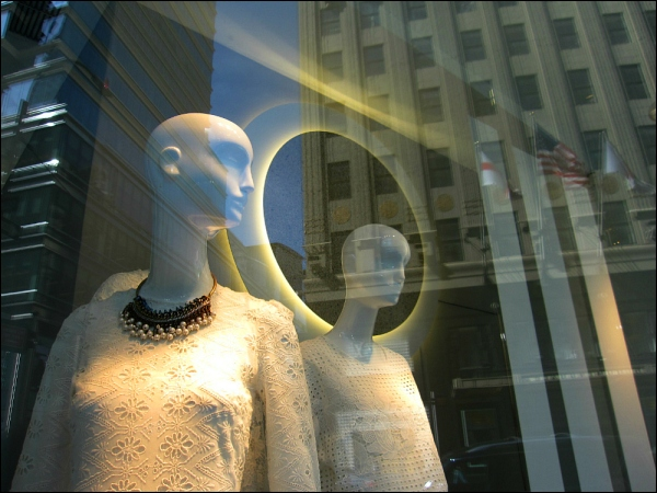 I can see your halo at Zara 750 Lexington Avenue (with Bloomingdale's in view)