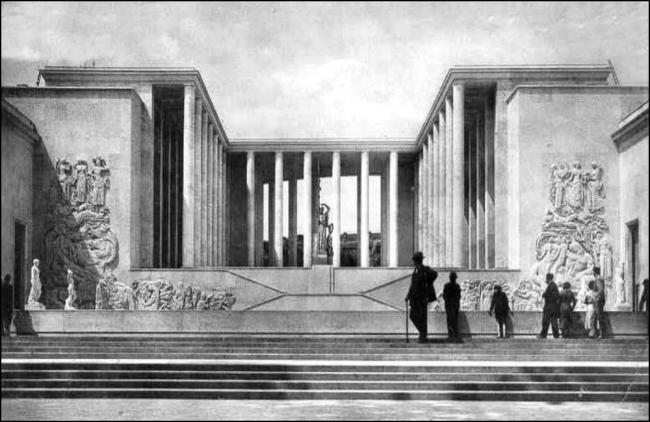 Palais de Tokyo, Exposition Internationale, 1937 (Image: T. Brack's archives)