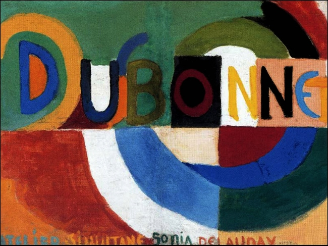 On a Roll: DUBONNET Collage by SONIA DELAUNAY, 1914 (Museo Nacional Centro de Arte Reina Sofía)