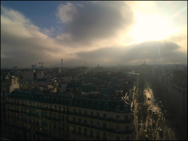 I can see your halo: View of L'église de la Madeleine from the rooftop café at Printemps (T. Brack)