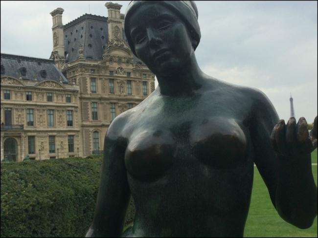 L'Aube by Aristide Maillol at the Jardin des Tuileries (Photograph by Theadora Brack)