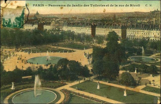 Panorama du Jardin des Tuileries et de la rue de Rivoli (Image: T. Brack's archives)