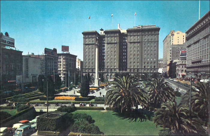 Saint Francis Hotel, Union Square, San Francisco (Image: T. Brack's archives, 1960)