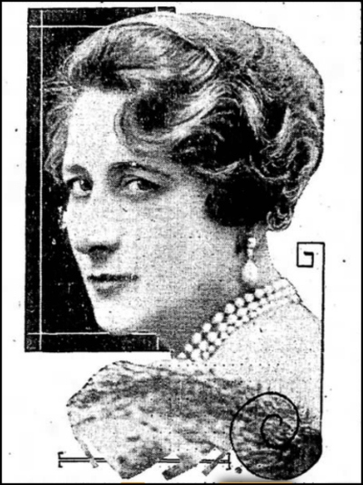 Mary Garden, newspaper clipping, 1930 (Photograph by Mishkin )