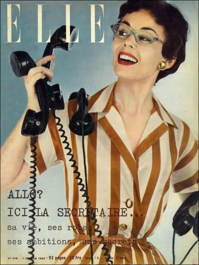 Allo! C'est Moi! (Elle Magazine, 1955, T. Brack's archives)