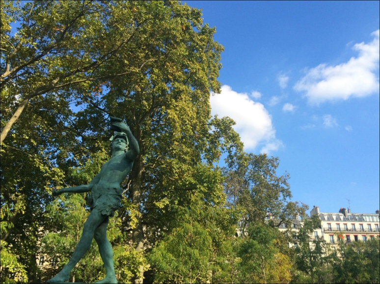 L'acteur grec by Baron Charles-Arthur Bourgeois, 1868, Jardin du Luxembourg, Paris (Photo by Theadora Brack)