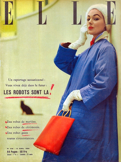 Flying sky high on a lark (Elle magazine, 1954, T. Brack's collection)