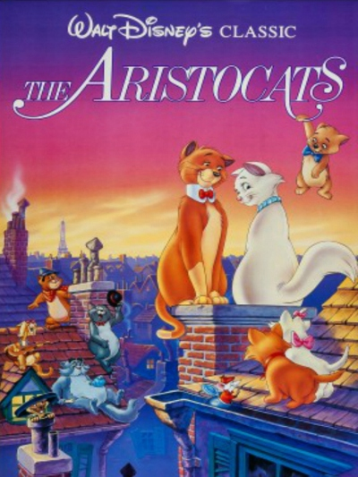 Set in Paris, the Aristocats cartoon flick was a game changer (Courtesy Movieposterdb)