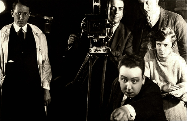 Lights! Camera! Action! Alfred J. Hitchcock directing during the 1920s (Image: Guardian)