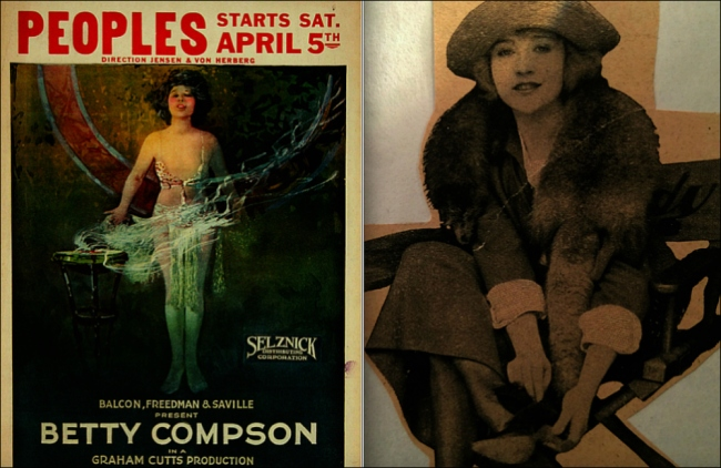 The silent love saga returned to the screen as a talkie in 1929 (Poster, 1923, Moviepostersdb, Betty, Found scrapbook clippings, 1920s, Theadora Brack's collection)
