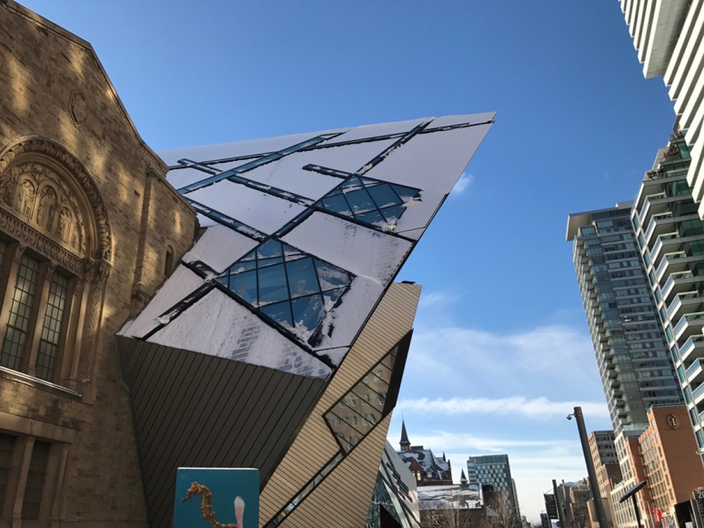 Let's prance! However, don't forget to gaze up at the Michael Lee-Chin Crystal at the Royal Ontario Museum (Photograph by Theadora Brack)