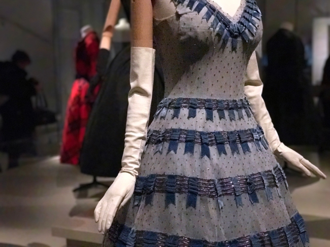 This is how you make an entrance: Back in the day, Christian Dior embroidered dresses typically took 100 to 150 hours to complete, 1950s (Photograph by Theadora Brack)