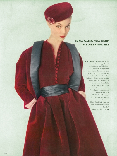 September Issue: Paris Collections celebrating Dior's arrival at Holt Renfrew, 1951 (Vogue, Theadora Brack's Collection)