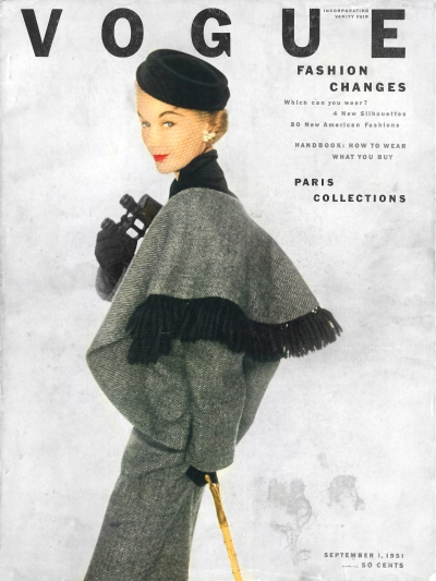 Pack your binoculars! September Issue featuring Christian Dior at Holt Renfrew, 1951 (Vogue, Theadora Brack's Collection)