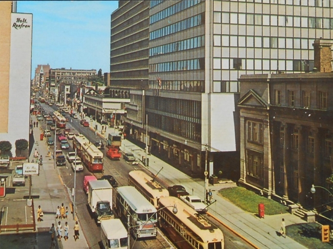 Does your eye spy the Holt Renfrew store on Bloor?  ( Postcard: T. Brack's collection, 1950s)