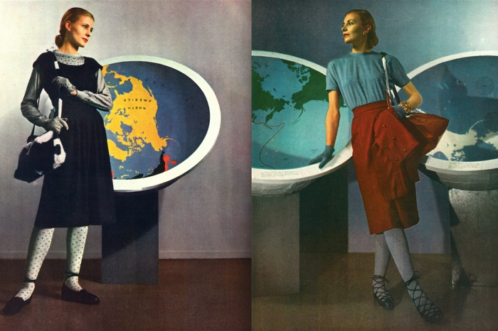 FLASHBACK: A NEW WORLD EXPO AT THE MUSEUM OF MODERN ART, PHOTOGRAPHED BY LOUISE DAHL-WOLFE, STYLED BY LORD & TAYLOR, HARPER'S BAZAAR, 1939 (T. BRACK'S ARCHIVES)