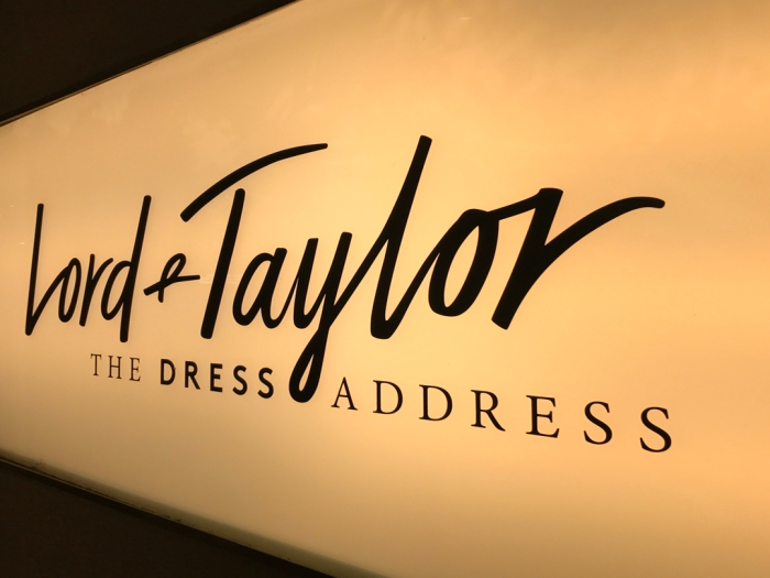 "SIGN OF THE TIMES: LORD & TAYLOR WAS RECENTLY SOLD, SO GET THEE QUICKLY TO ""THE DRESS ADDRESS,"" AND EXPLORE IT LIKE THERE'S NO TOMORROW (PHOTO BY THEADORA BRACK)"