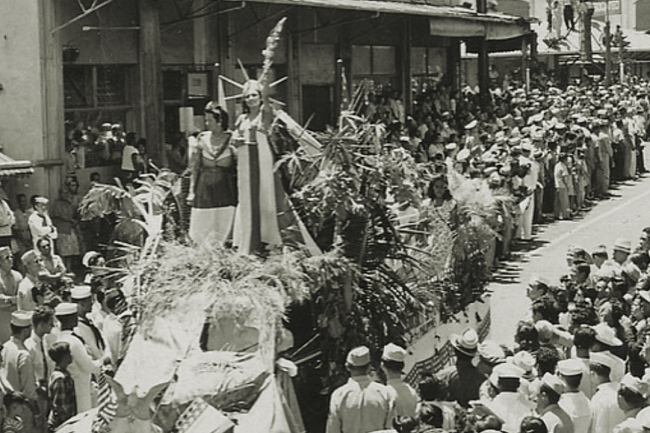 Statue of Liberty, Parade, Hawaii, September 1945 (Image: Theadora Brack's archives)