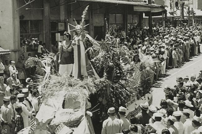 Statue of Liberty, Parade, Hawaii, September 1945 (Image: Theadora Brack's archives)