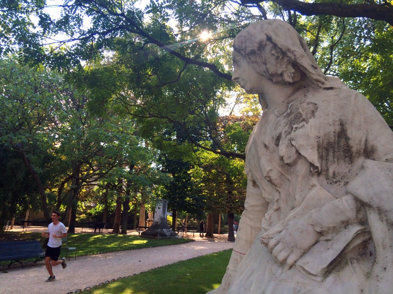 Let's re-charge the soul and soles with writer George Sand at the Jardin du Luxembourg (Photo by Theadora Brack)
