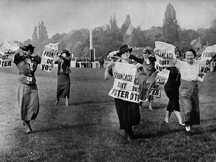 Thanks to the efforts of Louise and countless other activists like her, French women eventually got the vote in 1945, Hippodrome de Longchamp, Bois de Boulogne (Image: Bibliothèque Nationale de France)