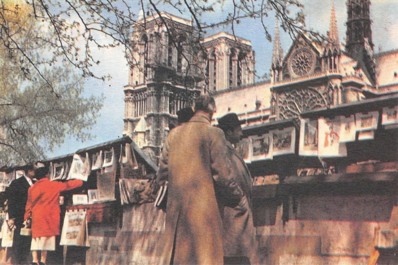 These great chimes have always inspired me. So yesterday, I reached for my tattered copy of Victor Hugo's Notre-Dame de Paris (Postcard, T. Brack's collection)