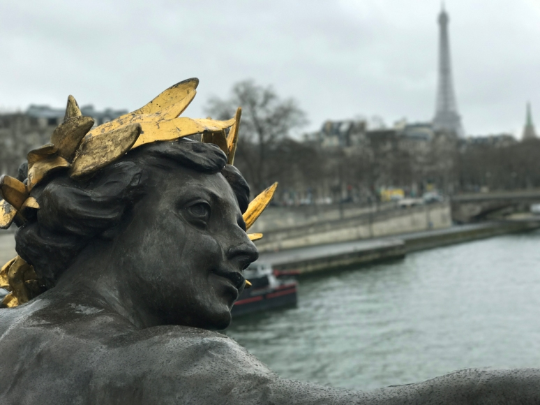 Favorite Nymph of the Seine by Georges Récipon, Pont Alexandre III (Photo by Theadora Brack)