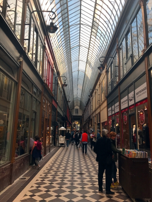 At the arcades you'll find art galleries, bookshops, shoe cobblers, boutiques, pâtisseries, cafés, and bars. Passage Jouffroy. (Photo by Theadora Brack)
