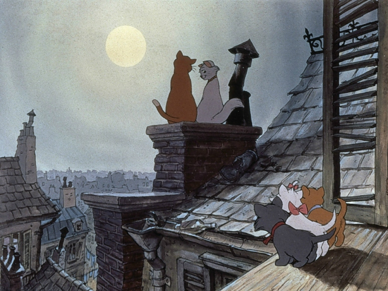 "Ever since watching Walt Disney's ""The Aristocats"" movie, I've been obsessed with France and les chats domestiques (Image: Moviestillsdb.com)"