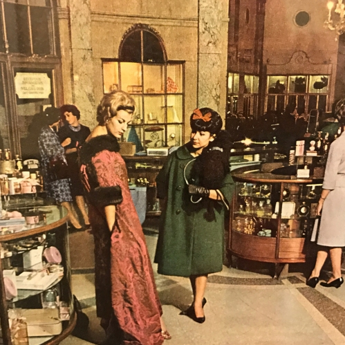 Oodles of poodles: Gal pals shopping at Bergdorf Goodman, 1960s, 7th floor exhibition. #ACCESSORYGOALS #HAIRGOALS