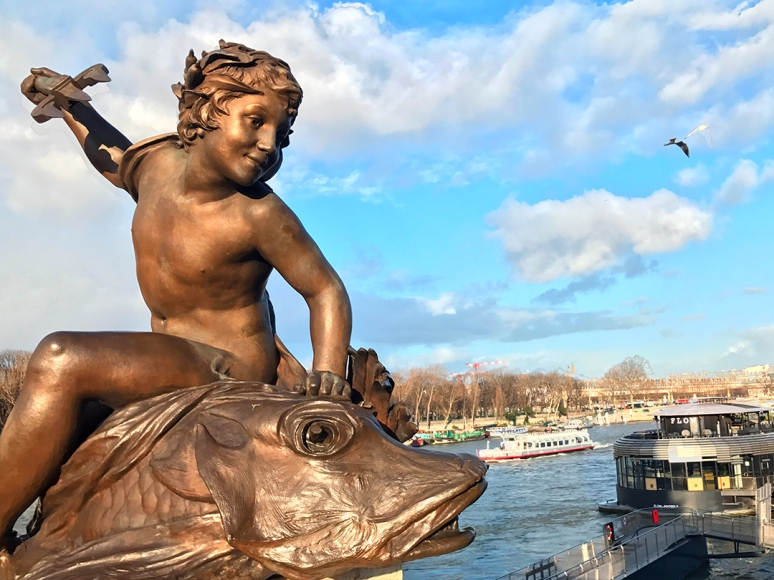 Pont Alexandre III, Paris, February 2020 (Photo by Theadora Brack)