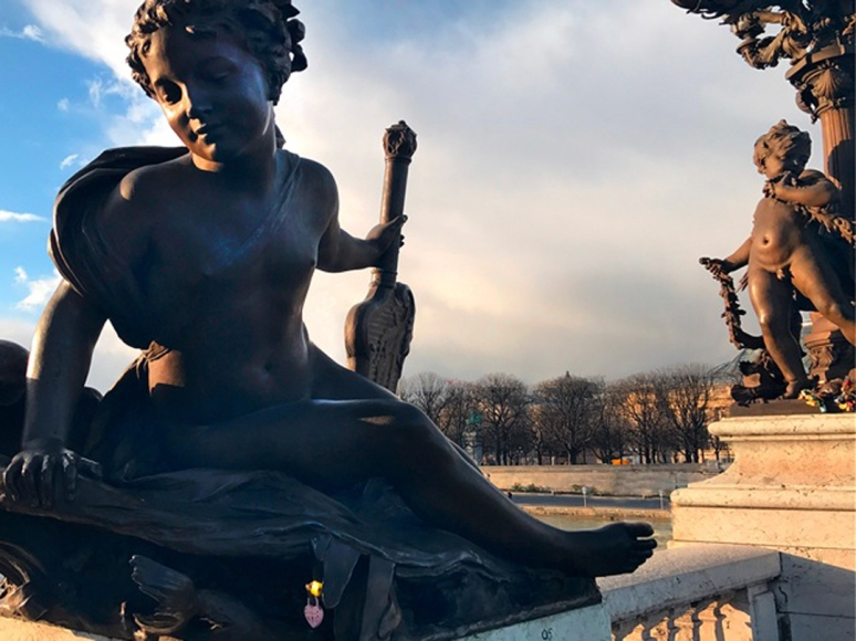 Pont Alexandre III, Paris, February 2020 (Photo by Theadora Brack)